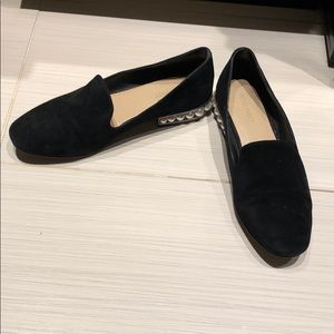 Nine West Size 8 Black Loafers